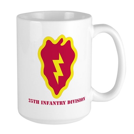 SSI - 25th Infantry Division with Text Large Mug