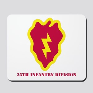SSI - 25th Infantry Division with Text Mousepad