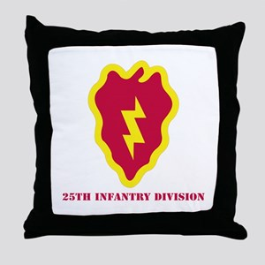 SSI - 25th Infantry Division with Text Throw Pillo