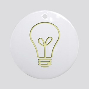 The Pale Bulb Ornament (Round)
