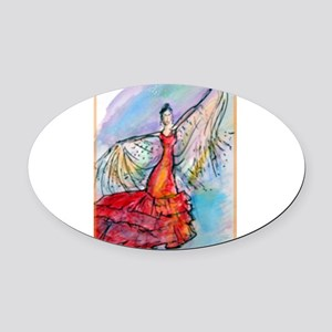 Flamenco dancer, art! Oval Car Magnet