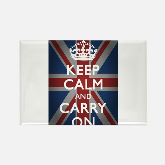 Keep Calm And Carry On Rectangle Magnet