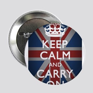 """Keep Calm And Carry On 2.25"""" Button"""
