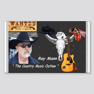 Country Music Outlaw Sticker (Rectangle)