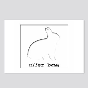 Killer Bunny Postcards (Package of 8)