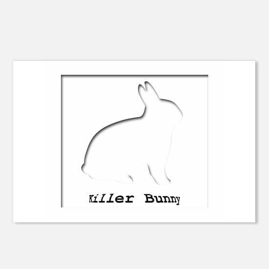 Killer Bunny Postcards (Package of 8)