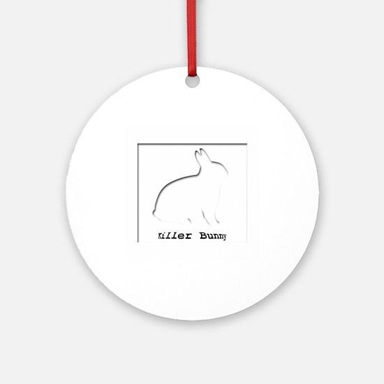 Killer Bunny Ornament (Round)
