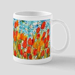 Orange Tulip Inspirational Art Mug
