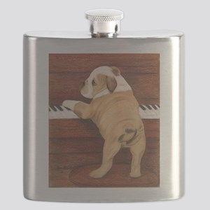 Piano Pup Flask
