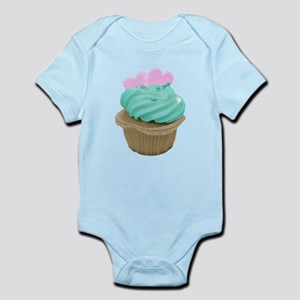 Pink Hearts Cupcake Infant Bodysuit