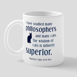 wisdom of cats philosophy Mug
