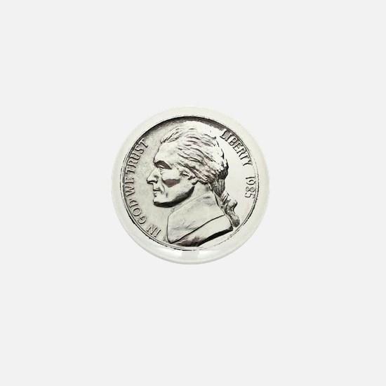 1985 Nickel Mini Button