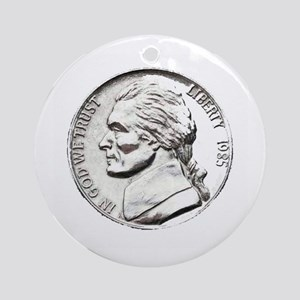 1985 Nickel Ornament (Round)