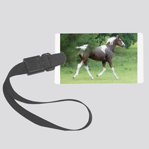 Apache Horse Rescue Paint Horse Large Luggage Tag