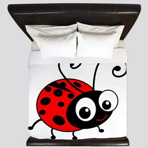 Cute Ladybug King Duvet