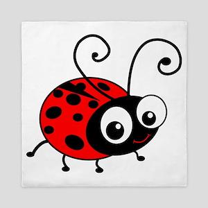 Cute Ladybug Queen Duvet