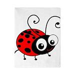 Cute Ladybug Twin Duvet