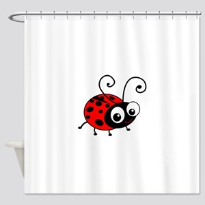 Cute Ladybug Shower Curtain
