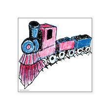 Patriotic I Can Train Square Sticker 3