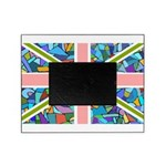 Mosaic Union Jack Flag Picture Frame