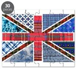 Tartan and other texture and patterns union jack P
