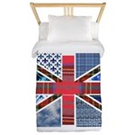 Tartan and other texture and patterns union jack T