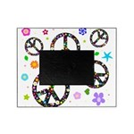 Peace signs and flowers pattern Picture Frame