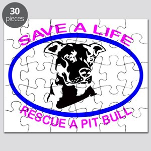 SAVE A LIFE RESCUE A PIT BULL Puzzle