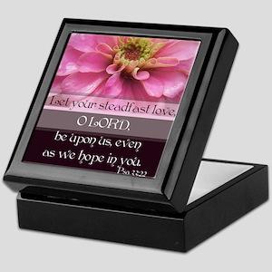 Let Your Steadfast Love, O Lord Keepsake Box