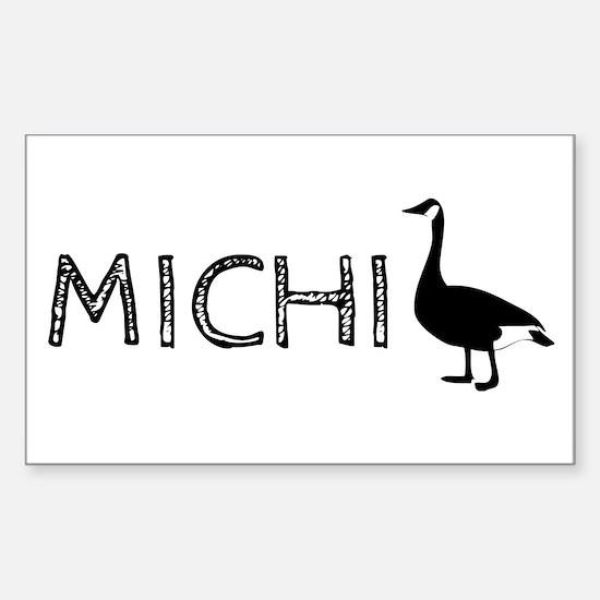 Michigander Sticker (Rectangle)