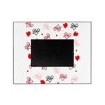 Love Heart Typography Pattern Picture Frame