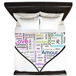 Heart Love in different languages King Duvet