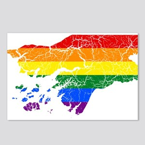 Guinea Rainbow Pride Flag And Map Postcards (Packa