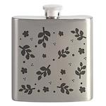 Leaf silhouette pattern Flask