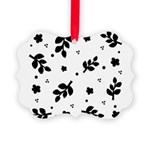 Leaf silhouette pattern Picture Ornament