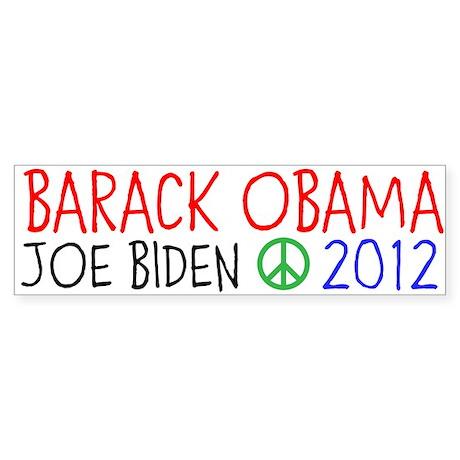 BARACK OBAMA 2012 Sticker (Bumper)