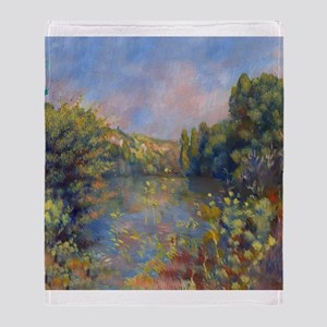 Renoir - Lakeside Landscape Throw Blanket