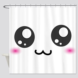 Japanese Emoticon Smiley Shower Curtain
