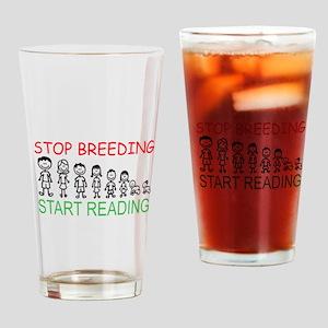 Stop Breeding Drinking Glass
