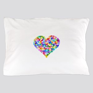 Rainbow Heart of Hearts Pillow Case