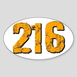 216 Sticker (Oval)