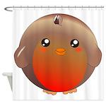Cute Robin bird Shower Curtain