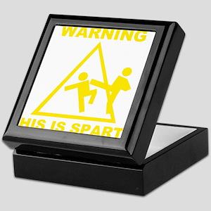 Warning! This is Sparta Keepsake Box