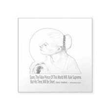 Christian Poetry Square Sticker 3