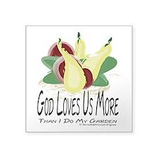 Christian Gardener Square Sticker 3