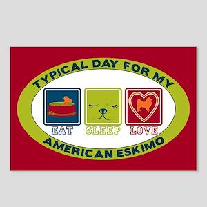 American Eskimo Postcards (Package of 8)