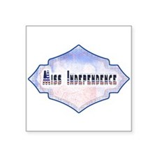 Miss Independance Square Sticker 3