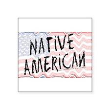 Native American Flag Square Sticker 3
