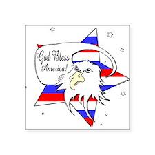 American Eagle Christian Square Sticker 3