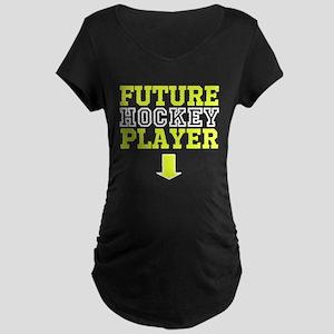 Future Hockey Player Maternity Dark Tee